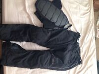 Trousers AKITO for motorcycle SIZE XXL and Back Protector DAINESE. Can sell individually if wanted.
