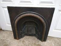 Victorian Art Deco Iron fire surround Bargain £65