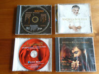 4 ANDREA BOCELLI MUSIC CDs