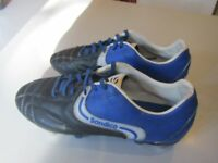 Football Boots. Sondico Black/Blue. Size 7