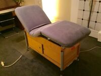 Very comfy hydraulic electric spa/massage bed. under storage. Memory foam. Living earth craft