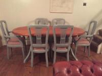 Lovely 6seater table and chairs (free local delivery)