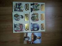 6 doctor who books plus a box set of 4