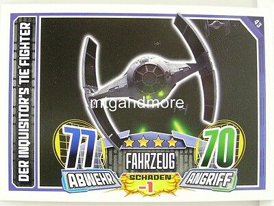 s Tie Fighter - Star Wars Rebel Attax (Star Wars Rebels Der Inquisitor)