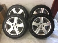 4 Tyres and Alloys for PEUGEOT 205/55/16