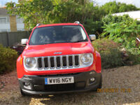 J JEEP RENEGADE Petrol Automatic. Exceptional condition, as new. Scotchguarded. £15,500