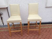 Cream leather bar seats very good condition