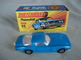 MATCHBOX - ISO GRIFFO Model car. Pristine condition.