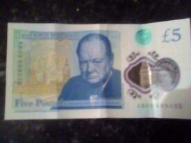 £5 Pound Note AB03
