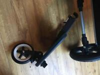 Bugaboo buggy board with cameleon/frog adapters