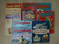 A collection of Children's Annuals from 1960s and 70s.