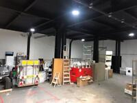 Units to let, garage to let, industrial space to let.