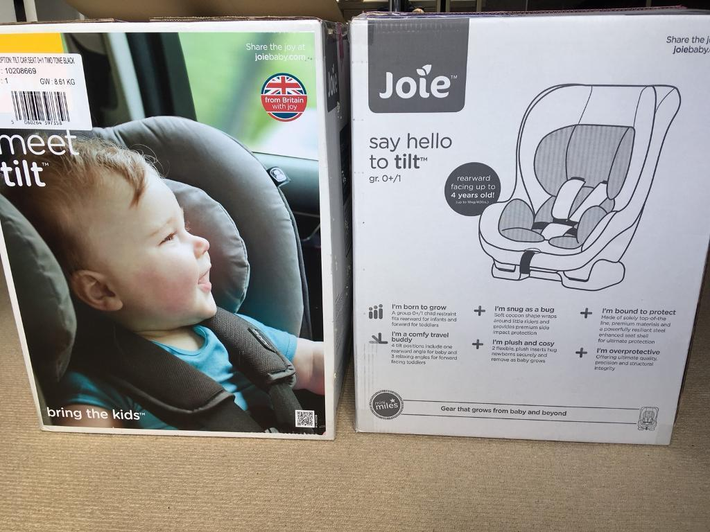 Joie Tilt Extended Rear Facing Car Seat ERF Almost New