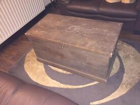 Old fashioned blanket chest