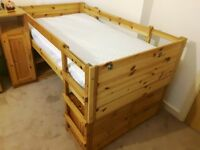 Pine bunk bed with matress and lots of storage space