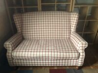 Next red cheque couch £150 ONO