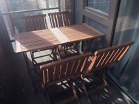 Outdoor bistro tables and chairs