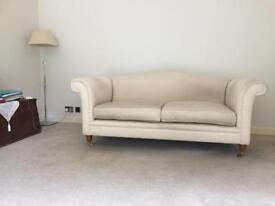 Two Laura Ashley Gloucester design Edwin fabric - colour cream sofas