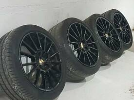 "4 x Genuine 20"" Porsche wheels with tyres"