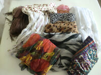 BAG OF 10 ASSORTED SCARVES - WRAPS