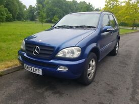 2002 Mercedes-Benz ml 2.7 diesel automatic 7 seater family car