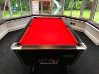 6ft Supreme Italian slate Pool table with league standard napped cloth. Pristine Condition.