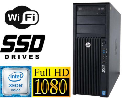 Hp Z420 Workstation Xeon 8cores E5-2690 32gb 128gb Ssd+1tb Wifi Win10 Dvdrw