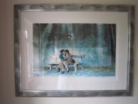 Rolf Harris Limited Edition 618/795 painting of: Lovers on the Seine.