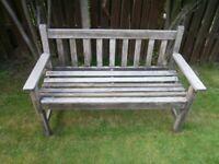 Garden Bench in Burma Teak 2 seater.