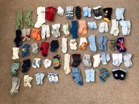 Bundle of baby socks x 54
