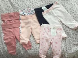 X7 Girls leggings - size 0-3 months