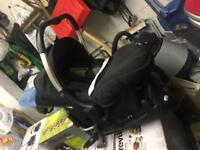 Silvercross car seat and isofix base