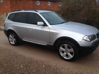 BMW X3 2.0 D SPORT 6 SPEED MANUAL , FULL BLACK LEATHER , FULL SERVICE HISTORY . 2 KEYS