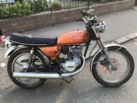 1975 SUZUKI GT125 WITH TAX BOOK ETC MATCHING FRAME NUMBER FOR PARTS OR RESTORATION £450