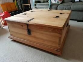 Wooden Blanket Storage Box