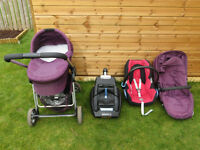 Baby travel system - iCandy pram/buggy and MaxiCosi car seat
