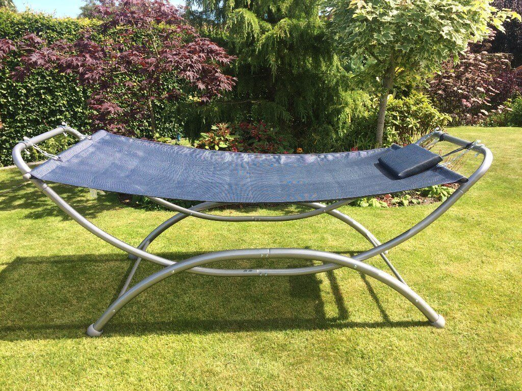 with frame vonhaus patio luxury hammock garden pin standing swinging metal and for outdoor