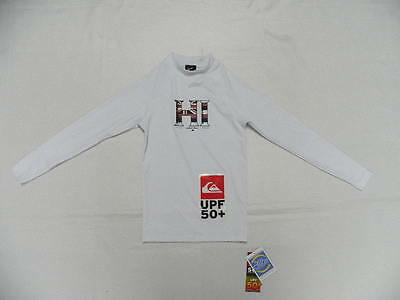 Quiksilver Boys Legend White Size 12 Rashguard LS Shirt UPF