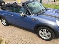 3Mths Warranty, MINI ONE 1.6 Convertible BLUE, 2 doors, Manual, Petrol, 12 months MOT, HPI Clear