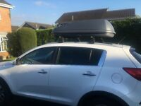 Kia car roof box & rails - almost new £120 ono