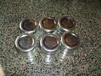 50 x small empty jam jars - labels removed and cleaned