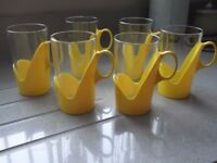 6 Mugs genuine 1970s