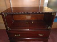 MAHOGANY TV VIDEO DVD ETC CABINET.