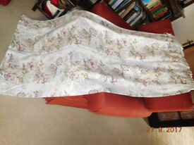 LONG FLORAL CURTAINS two pairs