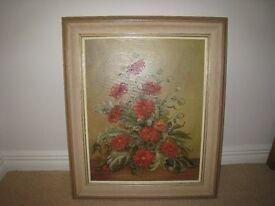 Oil Painting of Chrysanthemums