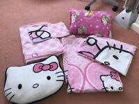 X2 hello kitty duvet cover set & cushions