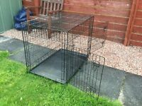 LARGE DOG CAGE/KENNEL/CRATE DOUBLE OPENING AND COLLAPSABLE WITH CARRY HANDLE £25