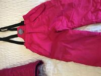 Girls age 11-12 ski jacket and salopettes