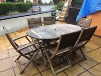 6 seater garden table and chairs set