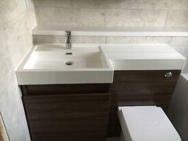 Modern Bathroom Vanity Unit Countertop Basin